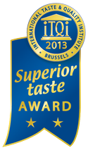 The iTQi Superior Taste Award is a unique international recognition of taste quality. It certifies that the awarded consumer food and drink products have met or exceeded the taste quality expectations of iTQi juries composed by 120 top European Chefs, Sommeliers and beverage experts. The products are tested blind on their own merits following a strict sensory analysis process that guarantees total neutrality.